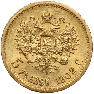 Rosja, Mikołaj II, 5 rubli 1902 AP