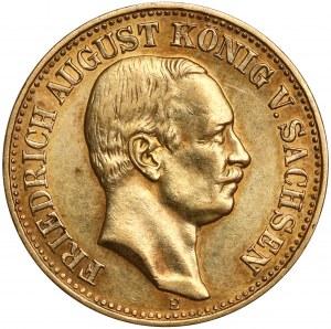 Sachsen, Friedrich August III., 10 mark 1912 E