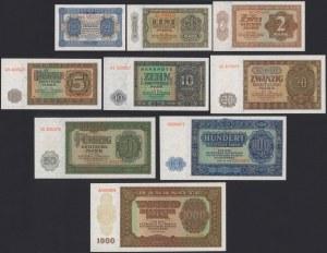 Germany, DDR 50 pfg - 1.000 mk 1948 (9pcs)