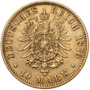 Hamburg, 10 mark 1876 J - rare