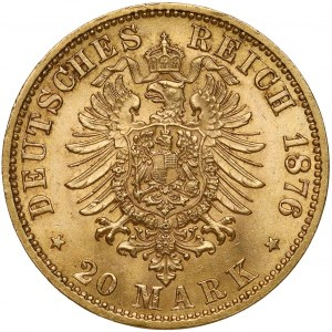 Sachsen, Albert Wettin, 20 mark 1876 E
