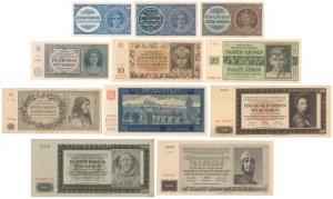 Bohemia and Moravia, 1 - 5.000 Korun (1939-46) set of 11pcs