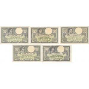 500 złotych 1919 - zestaw (5szt)
