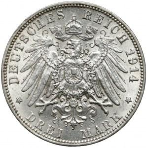 Hamburg, 3 mark 1914 J