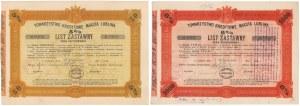 Lublin, TKM, Listy zastawne 500 i 1.000 zł 1925-28 (2szt)