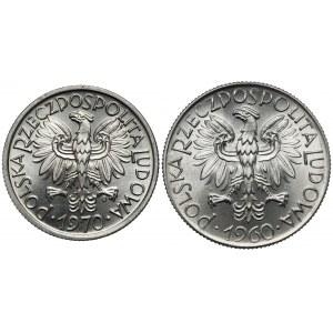 2 złote 1970 i Rybak 5 złotych 1960 (2szt)