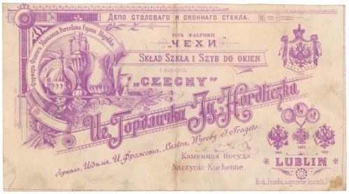 Skład Szkła i Szyb do Okien CZECHY, Lublin 1900 r.