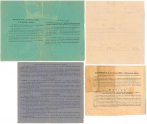 Kwity związane z obligacjami XIX w. (4szt)