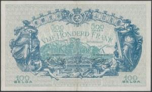 Belgium, 500 Francs = 100 Belgas 1943