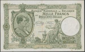 Belgium, 1.000 Francs = 200 Belgas 1943