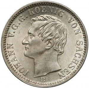 Saschen, Iohann V., 1/6 Taler 1856