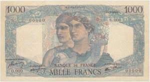 Francja SPECIMEN 1.000 Francs (1945-50)