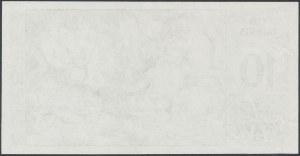 Great Britain, Testnote, Thomas De La Rue - 10 Talents - only back - green
