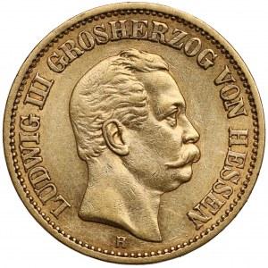 Hessen-Darmstadt, Ludwig III., 20 mark 1873 H