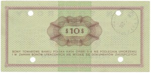 PEWEX 10 dolarów 1969 - GF - skasowany
