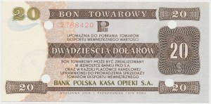 PEWEX 20 dolarów 1979 - HH - skasowany