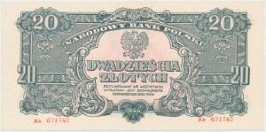 20 złotych 1944 ...owe - Ak