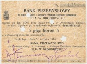 Drohobycz, Bank Przemysłowy, 5 koron 1914