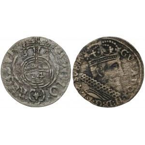 Gustaw II Adolf i Krystyna Waza, Trojak 1631 i Półtorak 1634 (2szt)