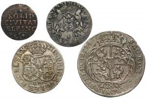 August III Sas, od szeląga do orta - zestaw (4szt)
