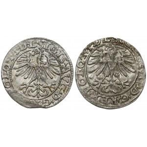 Półgrosze Zygmunt II August - Wilno 1564 i 1565 (2szt)