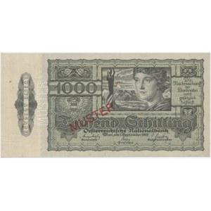 Austria, 1.000 Schilling 1947 - MUSTER