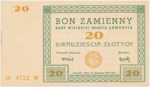 Zamość, 20 złotych 1944