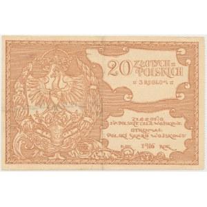 Polski Skarb Wojskowy, 20 złotych = 3 ruble 1916