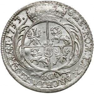 August III Sas, Dwuzłotówka Lipsk 1753 - 8 GR