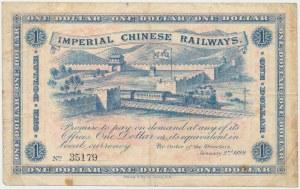 Chiny, Imperial Chinese Railways, 1 Dolar 1899