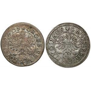 Grosze Zygmunta III Wazy - Kraków 1609 (2szt)