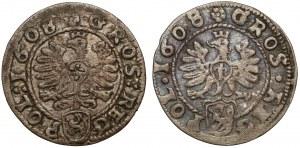 Grosze Zygmunta III Wazy - Kraków 1608 (2szt)