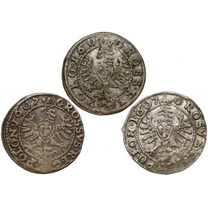 Grosze Zygmunta III Wazy - Kraków 1607 (3szt)