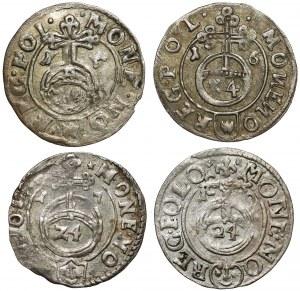 Półtoraki Zygmunta III Wazy - 1615-1619 (4szt)