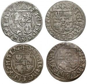 Półtoraki Zygmunta III Wazy - 1616-1620 (4szt)