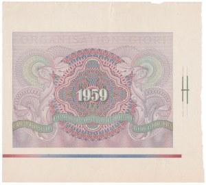 GIORI - druk próbny banknotu testowego 1959