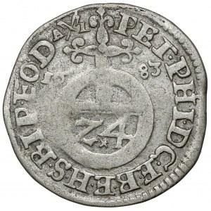Bamberg-Bistum, Peter Philipp von Dernbach, 1/24 Taler 1683