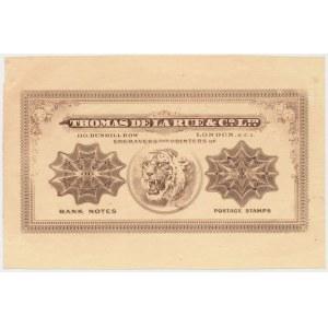 Wielka Brytania, Thomas De La Rue - Tygrys - banknot testowy - druk jednostronny