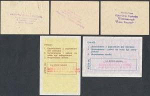Upoważnienia na zakup paliwa i kartki zaopatrzeniowe (5szt)