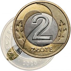 Destrukt, 2 złote 2020 - pęknięcie stempla
