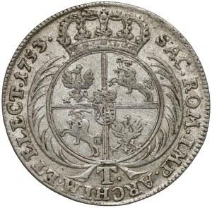 August III Sas, Tymf Lipsk 1753 - łezkowy przekrój