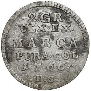 Poniatowski, Półzłotek 1766 F.S. - 7 listków - duża tarcza