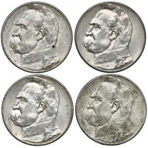Piłsudski 5 złotych 1934 i 1936 - zestaw (4szt)