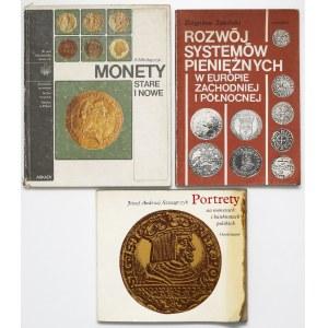 Portrety na monetach, monety stare i nowe, systemy pieniężne (3szt)