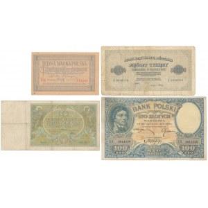 Zestaw marek polskich i złotówek 1919-1926 (4szt)
