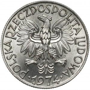 Rybak 5 złotych 1974 - na TRAWCE - rzadkość