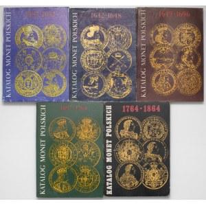 Katalog Monet Polskich - komplet za okres 1587-1684 (5szt)