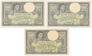 500 złotych 1919 - zestaw (3szt)