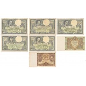 Zestaw banknotów polskich 1919-34 (7szt)