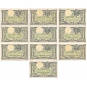 500 złotych 1919 - zestaw (10szt)